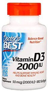 أقراص فيتامين د3 من شركة دكتورز بيست افضل علاج لنقص فيتامين د