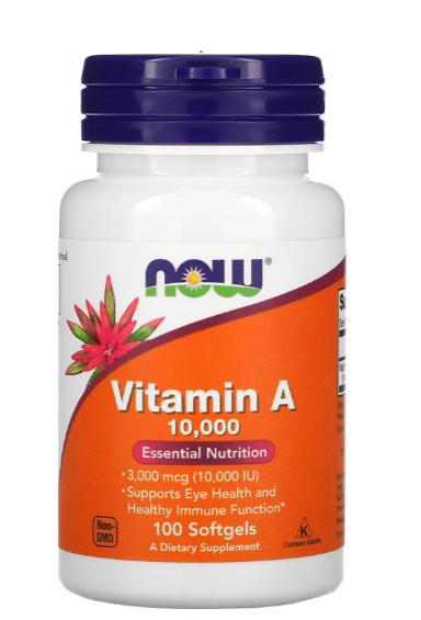 مكمّل ناو فودز أفضل بديل غذائي لـ فيتامين a