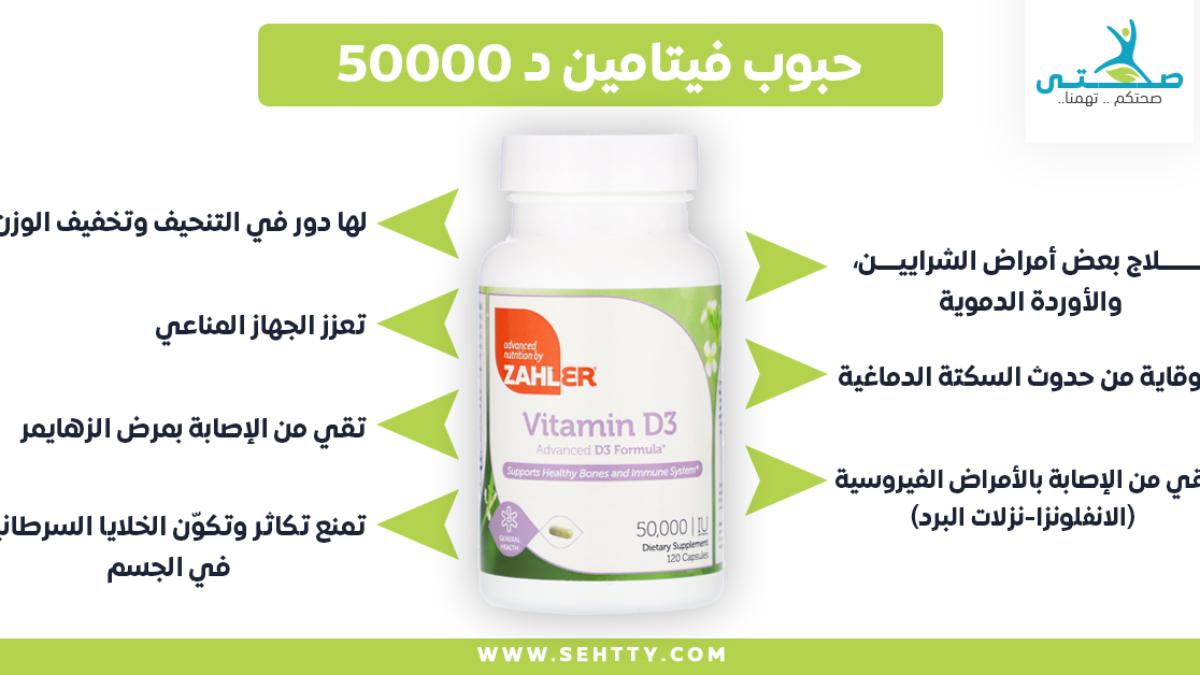 مراجعة حبوب فيتامين د 50000 وفوائدها العديدة للجسم صحتي