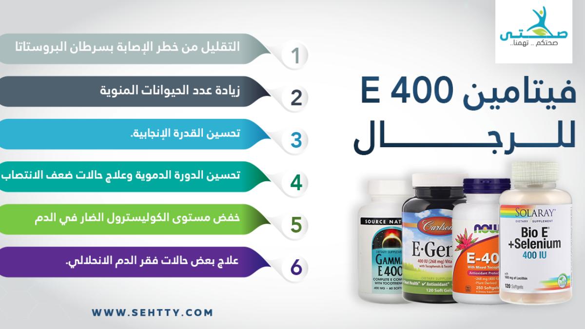 فوائد فيتامين E 400 للرجال وأفضل 4 منتجات لدعم الصح ة الجنسية صحتي